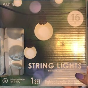 Frosted Globe String Lights